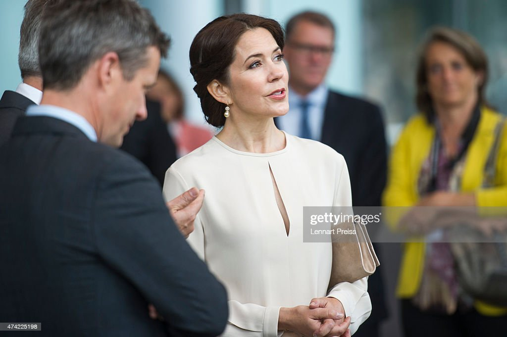 Crown Princess Mary Of Denmark is seen during her visit to Germany on May 21, 2015 in Munich, Germany.