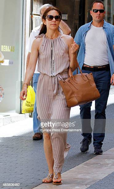 Crown Princess Mary of Denmark is seen on August 01 2015 in Palma de Mallorca Spain