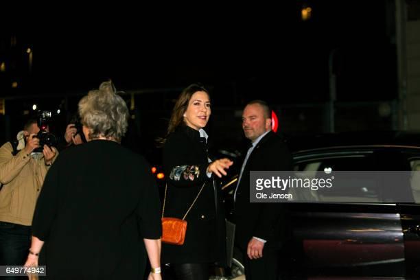 Crown Princess Mary of Denmark leaves The International Women's Day celebration at Vega on March 8 2017 in Copenhagen Denmark