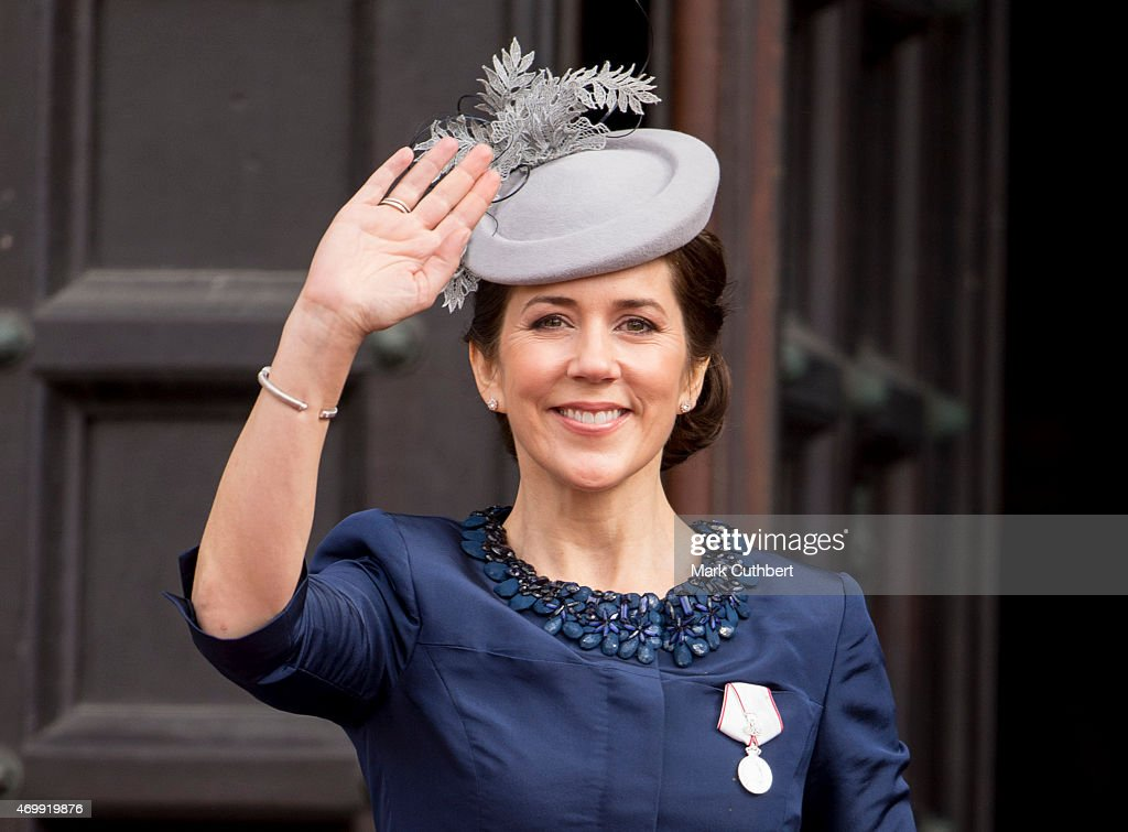 <a gi-track='captionPersonalityLinkClicked' href=/galleries/search?phrase=Crown+Princess+Mary+of+Denmark&family=editorial&specificpeople=158374 ng-click='$event.stopPropagation()'>Crown Princess Mary of Denmark</a> leaves the Town Hall after lunch during festivities for the 75th birthday of Queen Margrethe II Of Denmark on April 16, 2015 in Copenhagen, Denmark.