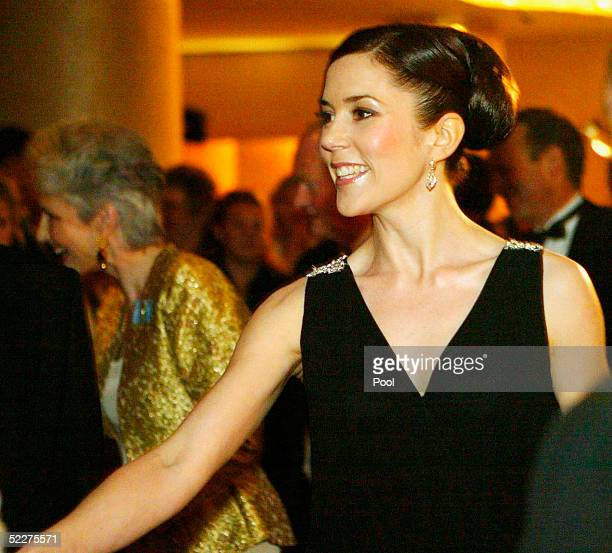 Crown Princess Mary of Denmark Mary Donaldson arrives at the Victor Chang Cardiac Institute Ball March 4 2005 in Sydney Australia