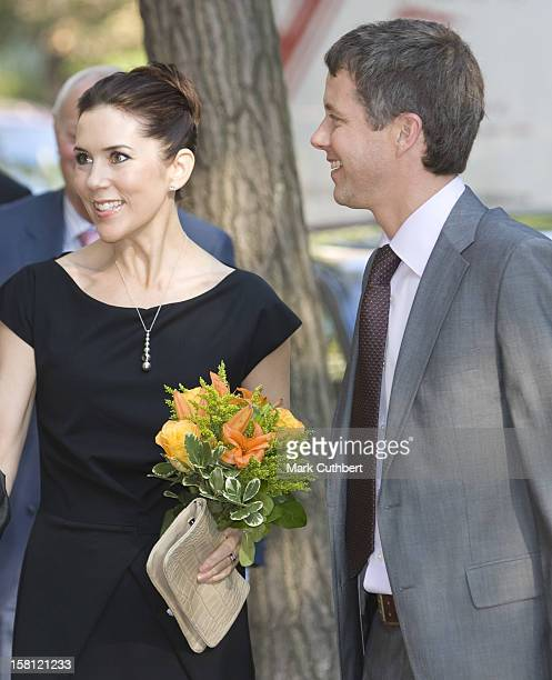 Crown Princess Mary Of Denmark On A Four Day Visit To New York Mary And Frederik At An Academic Guest House For Danish Students On The Last Day Of...