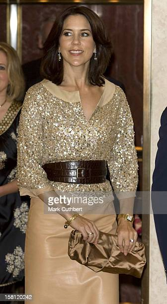 Crown Princess Mary Of Denmark On A Four Day Visit To New YorkAttend A Champagne Reception At Takashimmaya Store On Fifth Avenue On