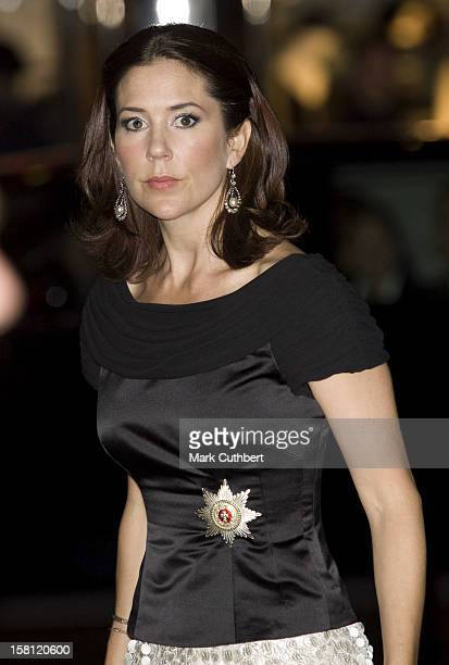 Crown Princess Mary Of Denmark On A Four Day Visit To New YorkAttend A Gala Dinner At Cipriani