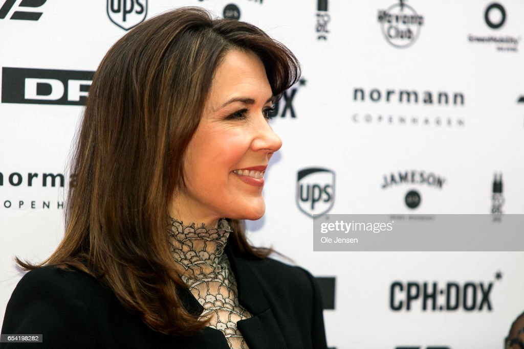 Crown Princess Mary of Denmark poses at the red carpet during the world premiere of the documentary 'Jaha's Promise' in the Grand Theatre during the opening of Copenhagen Documentary Film Festival (CPH:DOX) on March 16, 2017 in Copenhagen, Denmark.'Jaha's Promise' is a documentary with Jaha Dukureh playing herself, about a young woman's fight for her own body and about having the courage to confront her father, politicians and the society at large in order to change the widespread practice of female circumcision (FGM) in Gambia. The documentary is directed and produced by Irish Patrick Farelly and Kate O'Callaghan.