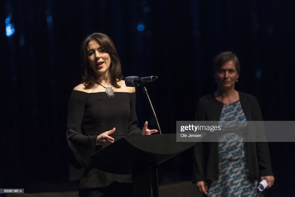 Crown Princess Mary of Denmark presents the Danish Cancer Society's Honorary Award 2017 to Inge Marie Svane on February 4, 2017 in Copenhagen, Denmark. The award, which is presented on the occasion of The World Cancer Day, is given to a person or group who has done an outstanding contribution to the fight against cancer. Svane is Chief Physician at Herlev Hospital and Professor at Copenhagen University in cancer immune therapy. She was given the award for her work with enhancing cancer patients immune system based upon their indvidual immune capabilities. With the award follows DKK 50.000 (EUR 6.700).