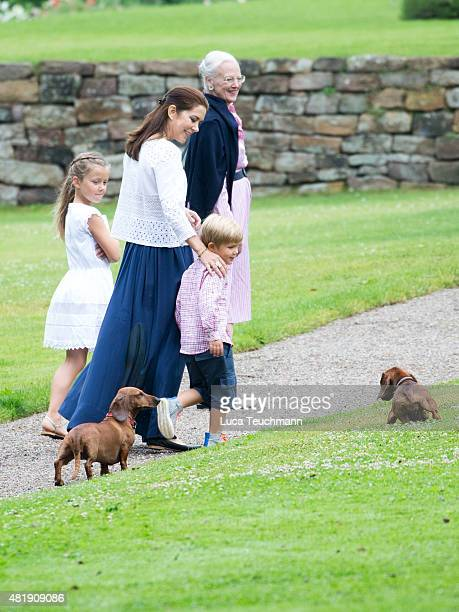 Crown Princess Mary of Denmark Prince Christian of Denmark Princess Isabella of Denmark and Prince Vincent of Denmark attend the annual summer...