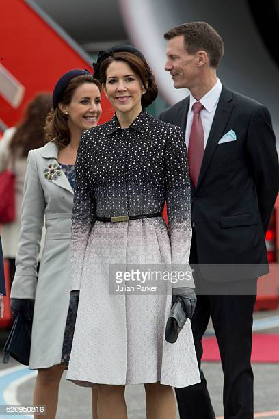 Crown Princess Mary of Denmark Princess Marie and Prince Joachim of Denmark at Copenhagen Airport for the arrival of The President and his wife...