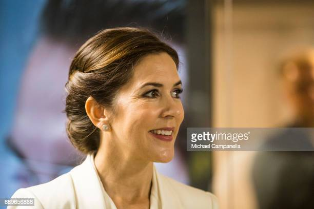 Crown Princess Mary of Denmark visiting the Designlounge on May 29 2017 in Stockholm Sweden