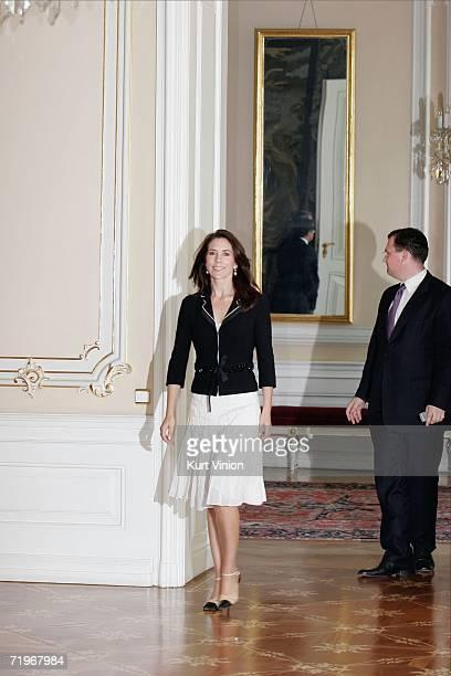 Crown Princess Mary of Denmark visits Prague Castle on September 22 2006 in Prague Czech Republic