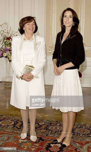 Crown Princess Mary Of Denmark Visits PragueVisit To Prague Castle For A Lunch Hosted By Livia Klausova