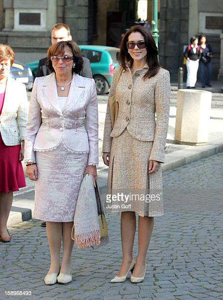 Crown Princess Mary Of Denmark Visits PragueWalkabout In The Old Town Square With Mrs Livia Klausova