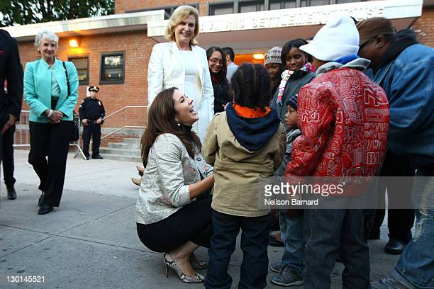 Crown Princess Mary of Denmark visits Riis Neighborhood Settlement House on October 23 2011 in New York City
