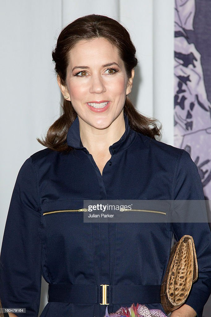 Crown Princess Mary of Denmark visits The Copenhagen International Fashion Fair at the Bella Center, during Copenhagen Fashion Week on February 1, 2013 in Copenhagen, Denmark.