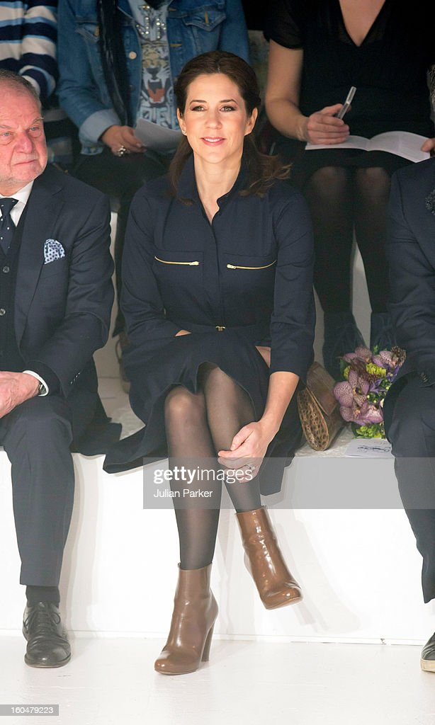 <a gi-track='captionPersonalityLinkClicked' href=/galleries/search?phrase=Crown+Princess+Mary+of+Denmark&family=editorial&specificpeople=158374 ng-click='$event.stopPropagation()'>Crown Princess Mary of Denmark</a> visits The Copenhagen International Fashion Fair at the Bella Center, during Copenhagen Fashion Week on February 1, 2013 in Copenhagen, Denmark.