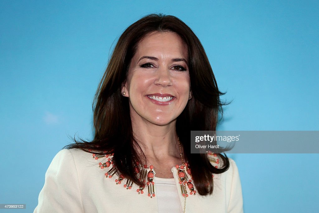 Crown Princess Mary Of Denmark visits the Silent Fusion Kitschen at the Scandic Emporio Hamburg on the 23 th Floor on May 19, 2015 in Hamburg, Germany.