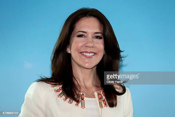 Crown Princess Mary Of Denmark visits the Silent Fusion Kitschen at the Scandic Emporio Hamburg on the 23 th Floor on May 19 2015 in Hamburg Germany