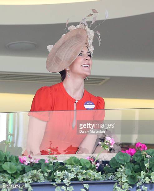 Crown Princess Mary of Denmark watches the racing on day 2 of Royal Ascot at Ascot Racecourse on June 15 2016 in Ascot England