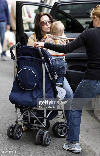 Crown Princess Mary of Denmark with son Christian at Salamanca Market on Salamanca Place in Hobart Tasmania 25 November 2006 SHD Picture by PER GROTH