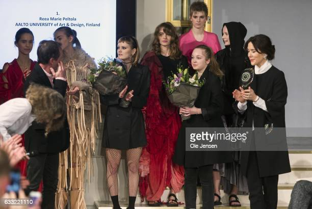 Crown Princess Mary presents design prizes during 'Designer's Nest' award show for young promising designer's at Copenhagen Fashion Week...