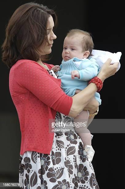 Crown Princess Mary Princess Isabella Attend A Photocall At Grasten Palace Denmark