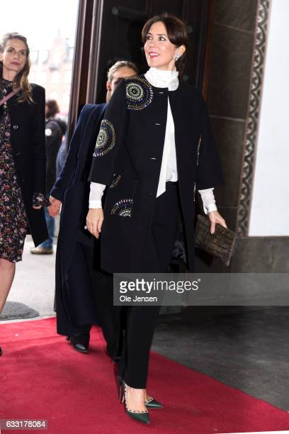Crown Princess Maryarrives to The City Hall to the opening ceremony of the Copenhagen Fashion Week Autumn/Winter 17 on January 31 2017 in Copenhagen...