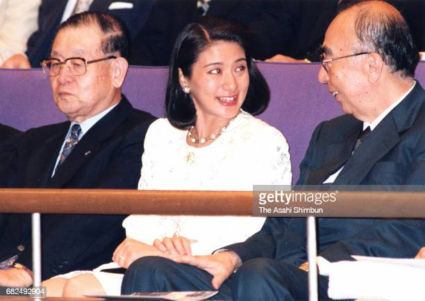Crown Princess Masako attends a Gakushuin Alumni Orchestra which Crown Prince Naruhito plays viola on June 29 1997 in Tokyo Japan