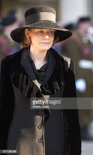 Crown Princess Mathilde Of Belgium Attends The Funeral Of Grand Duchess JosephineCharlotte Of Luxembourg At The Cathedral NotreDame Du Luxembourg