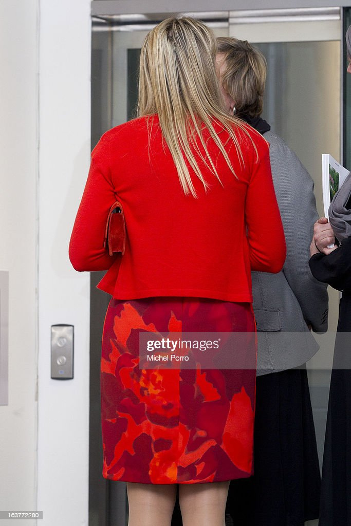 Crown Princess Maxima of The Netherlands opens the 'Yes Naturally' art manifestation on March 15, 2013 in The Hague, Netherlands.