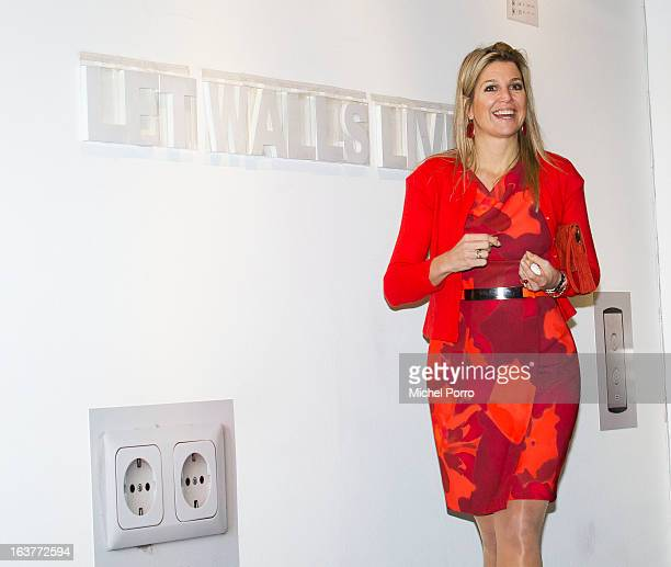 Crown Princess Maxima of The Netherlands opens the 'Yes Naturally' art manifestation on March 15 2013 in The Hague Netherlands
