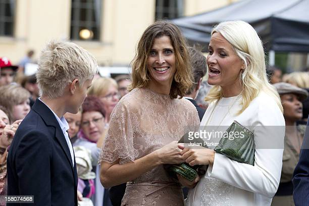 Crown Princess Mette Marit And Princess Rosario Of Bulgaria With Mette Marits Son Maruis Attending A Concert To Mark The 10Th Wedding Anniversary Of...
