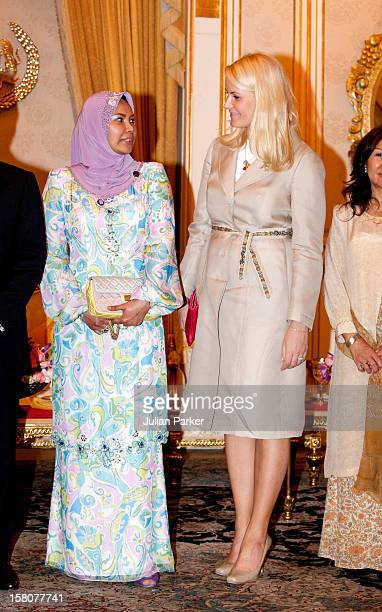 Crown Princess Mette Marit Of Norway The Queen Of Malaysia Her Majesty Tuanku Nur Zahirah At Istana Negara Kuala Lumpur