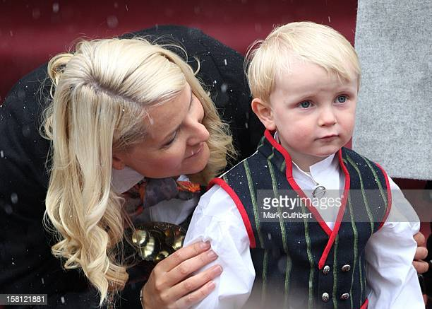 Crown Princess MetteMarit And Son Prince Sverre Magnus Attend The Norway National Day Celebrations In Skaugum