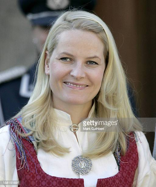 Crown Princess MetteMarit Attends The Norway National Day Celebrations In Skaugum