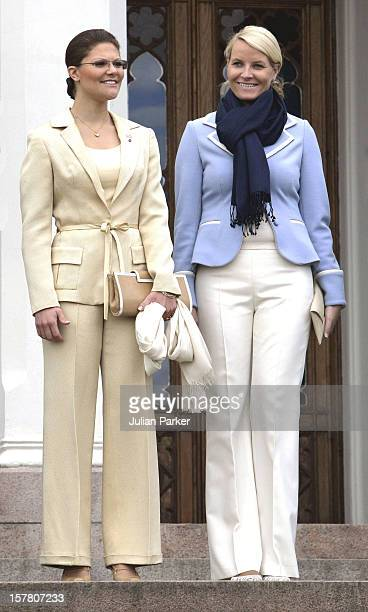 Crown Princess MetteMarit Crown Princess Victoria Visit Oscarshall In Oslo During A TwoDay Visit To Norway By King Carl Gustav Queen Silvia Crown...