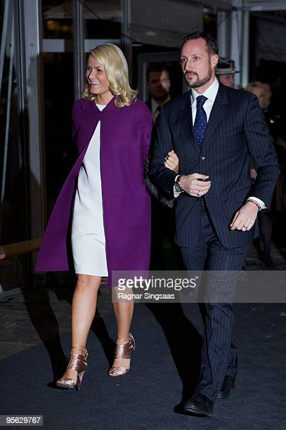 Crown Princess MetteMarit of Norway and Crown Prince Haakon Magnus of Norway attend the conference of the Confederation Of Norwegian Enterprise at...