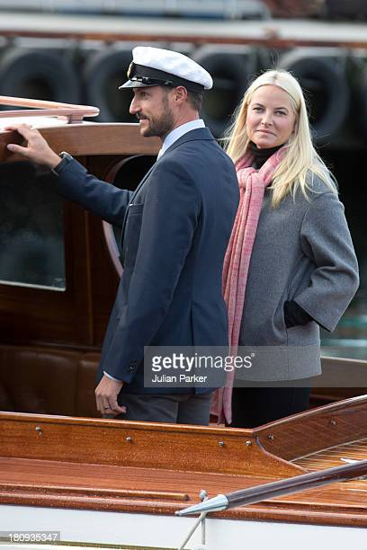 Crown Princess MetteMarit of Norway and Crown Prince Haakon of Norway visit Audnedal on the second day of their county visit to VestAgder on...