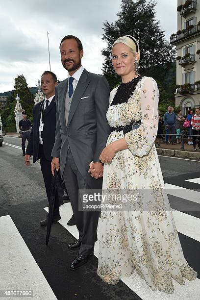 Crown Princess MetteMarit of Norway and Crown Prince Haakon of Norway are seen on August 1 2015 in STRESA Italy