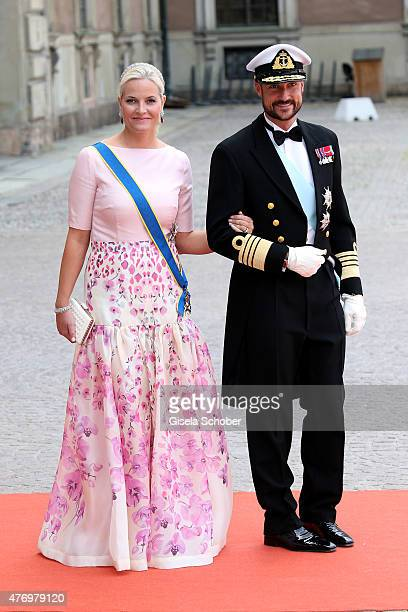 Crown Princess MetteMarit of Norway and husband Crown Prince Haakon of Norway attend the royal wedding of Prince Carl Philip of Sweden and Sofia...
