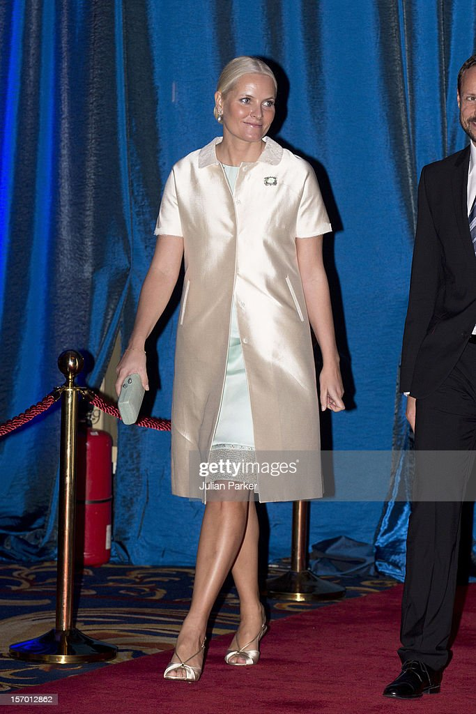 Crown Princess Mette-Marit of Norway attends a concert and Seafood buffet dinner at The Shangri-La Hotel during an official 3-day visit to Indonesia, on November 27, 2012 in Jakarta, Indonesia. The visit intends to strengthen and develop the existing relationship between the countries, especially in relation to the energy, maritime, trade and investment sectors.