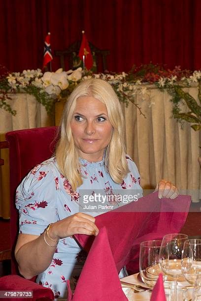 Crown Princess MetteMarit of Norway attends a Lunch at The Reunification Palace during day 3 of an official visit to Vietnam on March 21 2014 in Ho...