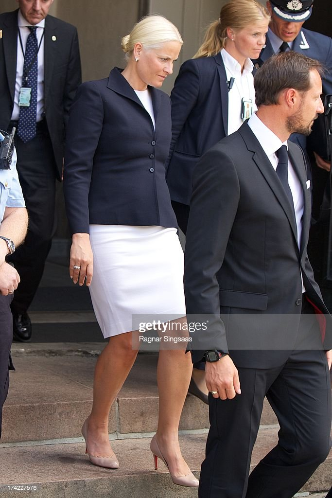 <a gi-track='captionPersonalityLinkClicked' href=/galleries/search?phrase=Crown+Princess+Mette-Marit&family=editorial&specificpeople=171288 ng-click='$event.stopPropagation()'>Crown Princess Mette-Marit</a> of Norway attends a memorial service for the victims of the 2011 terrorist attacks on July 22, 2013 in Oslo, Norway.