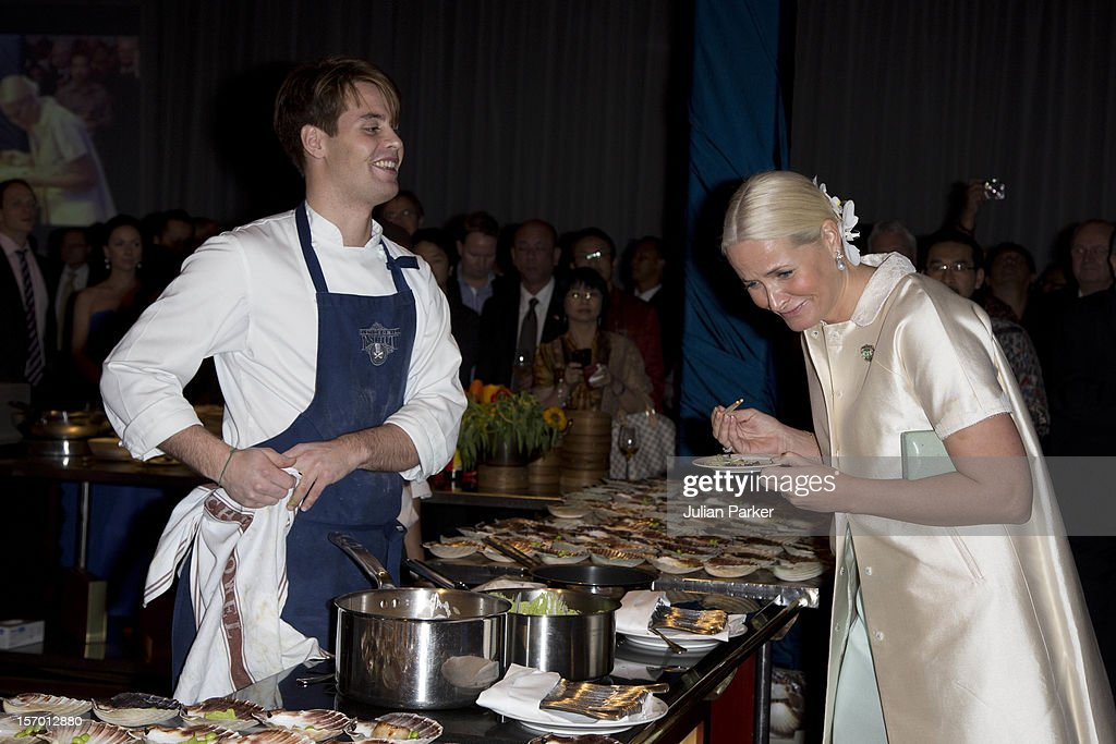 Crown Princess Mette-Marit of Norway attends a Seafood buffet dinner at The Shangri-La Hotel during an official 3-day visit to Indonesia, on November 27, 2012 in Jakarta, Indonesia. The visit intends to strengthen and develop the existing relationship between the countries, especially in relation to the energy, maritime, trade and investment sectors.