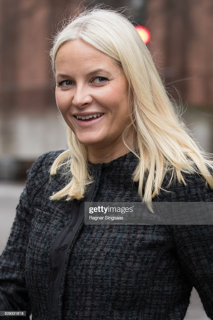 Crown Princess Mette-Marit of Norway attends 'Girls And Technology' Conference on February 10, 2016 in Oslo, Norway.