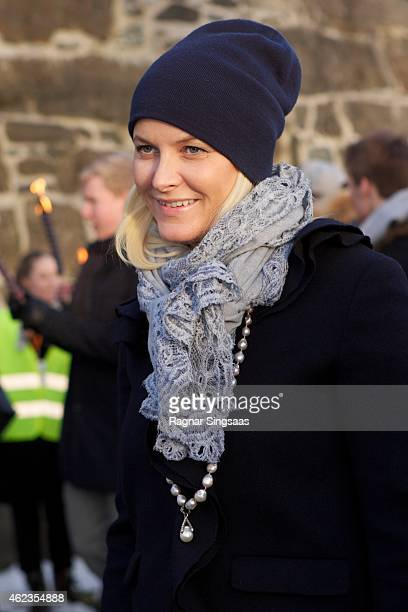 Crown Princess MetteMarit of Norway attends Holocaust Remembrance Day on January 27 2015 in Oslo Norway