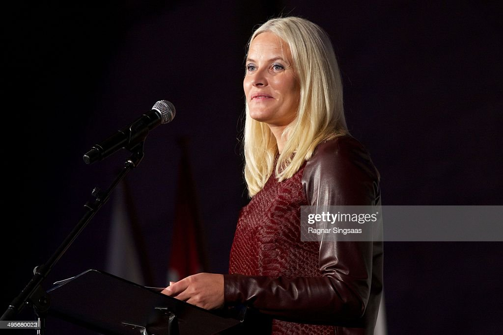 Crown Princess Mette-Marit of Norway attends The Celebration Of The 150th Anniversary of the Norwegian Red Cross on November 4, 2015 in Oslo, Norway.