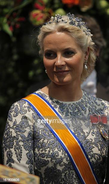 Crown Princess MetteMarit of Norway attends the inauguration of HM King Willem Alexander of the Netherlands and HRH Princess Beatrix of the...