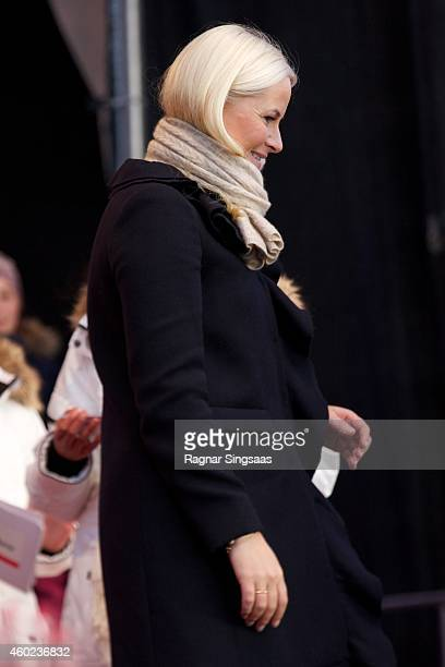 Crown Princess MetteMarit of Norway attends the Save The Children's Peace Prize Festival in Oslo on December 10 2014 in Oslo Norway