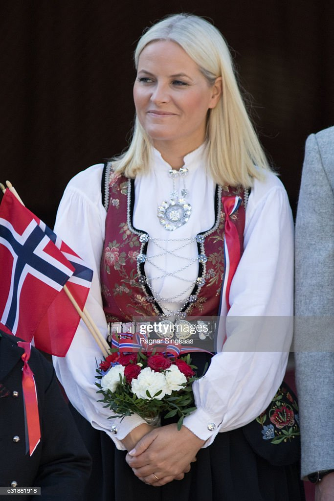 Crown Princess Mette-Marit of Norway celebrates National Day on May 17, 2016 in Asker, Norway.