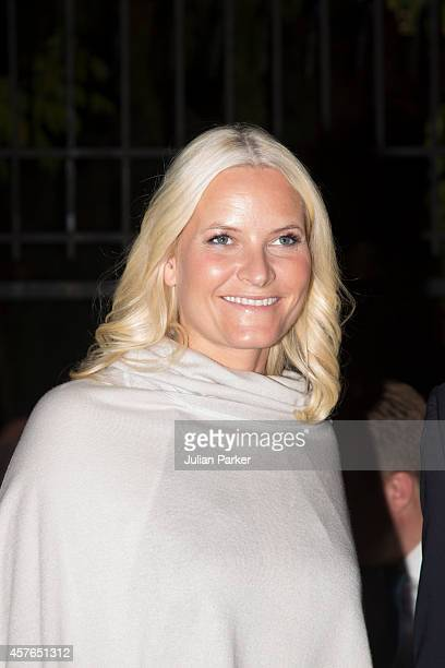 Crown Princess MetteMarit of Norway on the first day of their visit to Jordanattends a Dinner at The Norwegian Ambassadors Residence at on October 21...